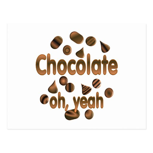 Chocolate oh, sí postal