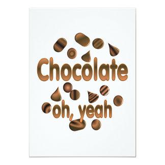 Chocolate Oh, yeah Card