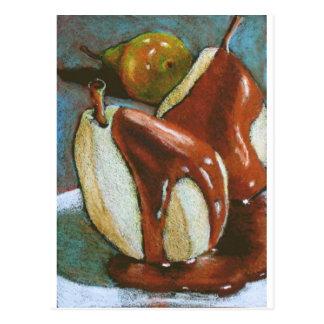 CHOCOLATE ON PEARS color pencil Postcard