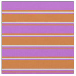 [ Thumbnail: Chocolate, Orchid, and Light Gray Colored Lines Fabric ]