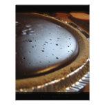 Chocolate oscuro membrete personalizado