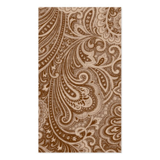 Chocolate Paisley Business Card Templates