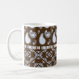 Chocolate Paisley Heart Fancy Name Coffee Mug