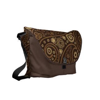 Chocolate Paisley Messenger Bag