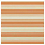 [ Thumbnail: Chocolate & Pale Goldenrod Colored Stripes Fabric ]