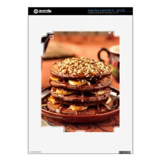 Chocolate Pancakes with Bananas and Caramel Decal For iPad 3