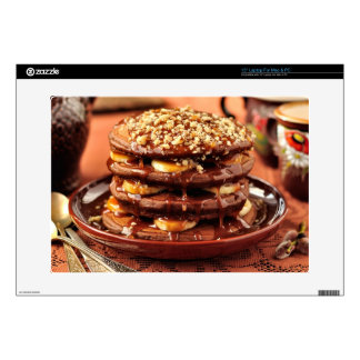 Chocolate Pancakes with Bananas and Caramel Laptop Decal