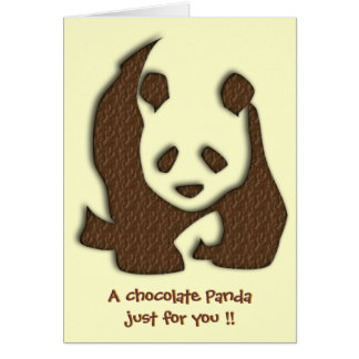 Chocolate Panda blank notelet / card