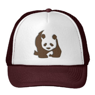 Chocolate Panda mesh-back cap Trucker Hat