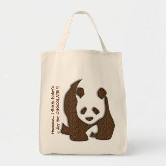 Chocolate Panda tote bag
