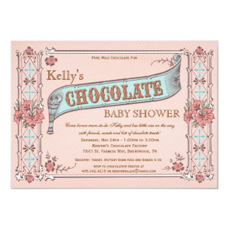 Chocolate Party Baby Shower Invitation
