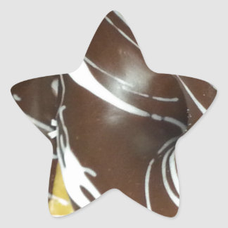 Chocolate Pastry Donut Star Stickers