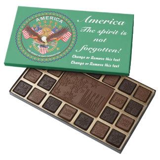 Chocolate patriótico surtido y barras de 45 caja de bombones variados con 45 piezas