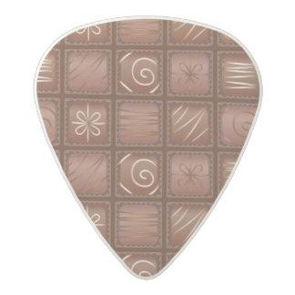 Chocolate Pattern Acetal Guitar Pick