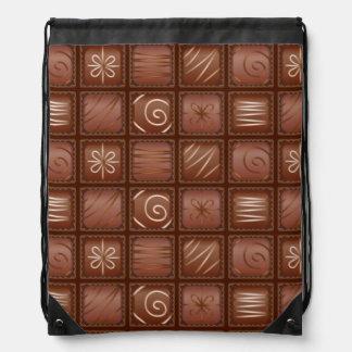 Chocolate Pattern Drawstring Bag