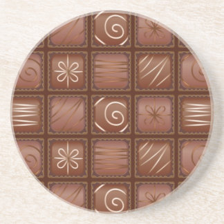 Chocolate Pattern Drink Coaster
