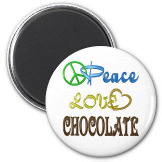 Chocolate Peace Love Magnet