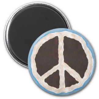 Chocolate peace pie painting magnets