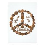 Chocolate Peace Sign Custom Invites