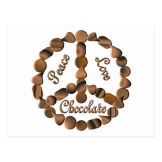 Chocolate Peace Sign Postcard