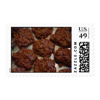 Chocolate-Peanut Butter No-Bake Cookies Postage