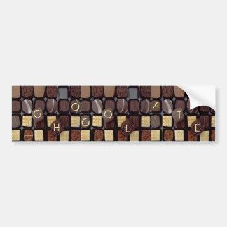 chocolate pegajoso pegatina para auto