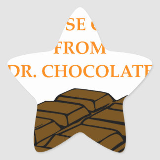 chocolate pegatina en forma de estrella