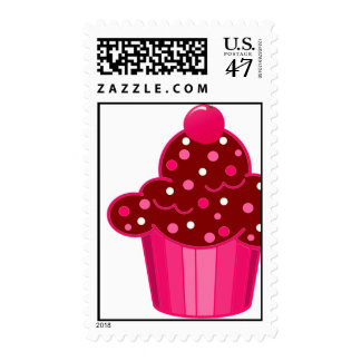 Chocolate Peppermint Cupcake Postage
