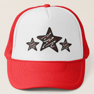 Chocolate Peppermint Star Christmas Holiday Cookie Trucker Hat