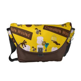 Chocolate perdido bolsas messenger