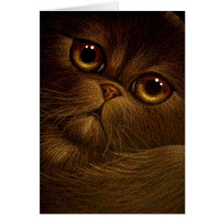 CHOCOLATE PERSIAN CAT HOLIDAY Card