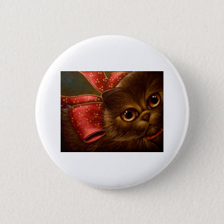 CHOCOLATE PERSIAN CAT - HOLIDAY GIFT Zz Button