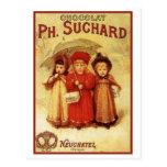 Chocolate pH del vintage. Anuncio de Suchard Tarjeta Postal