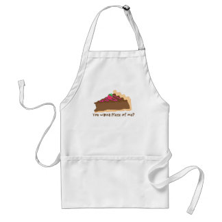 chocolate pie apron- wanna piece of me? adult apron
