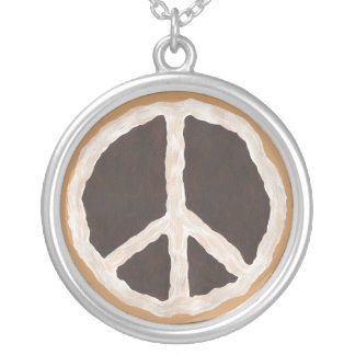 Chocolate Pie Peace Sign Necklace