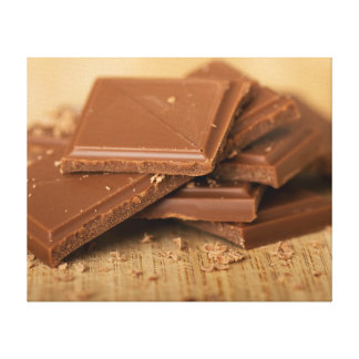 Chocolate pieces canvas print