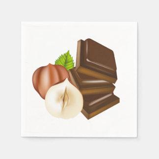Chocolate Pieces Paper Napkins