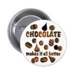 Chocolate Pinback Button
