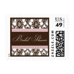 Chocolate & Pink Fancy Bridal Shower-Small Postage