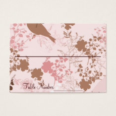 Chocolate & Pink Floral Wedding Table Number Cards at Zazzle