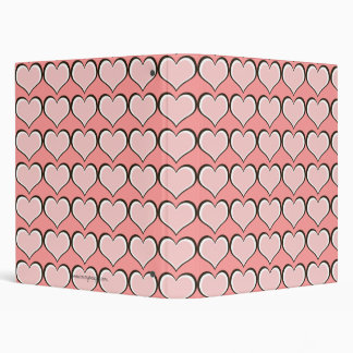 Chocolate & Pink Hearts Personalized 3 Ring Binders