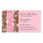 Chocolate Pink Roses Sweet Bakery Business Card
