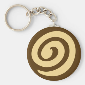 Chocolate Pinwheel Cookie Keychain