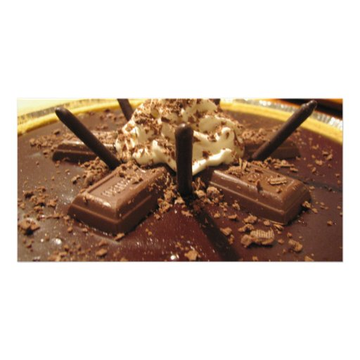 Chocolate Pocky Pie Personalized Photo Card