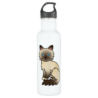 Chocolate Point Birman / Ragdoll Cat Stainless Steel Water Bottle