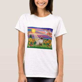 Chocolate Point Himalayan  -  Autumn Sun T-Shirt