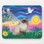 Chocolate Point Himalayan Cat  - Twilight Mouse Pad
