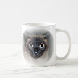 Chocolate Point SIAMESE- I don't do, MORNINGS! Classic White Coffee Mug