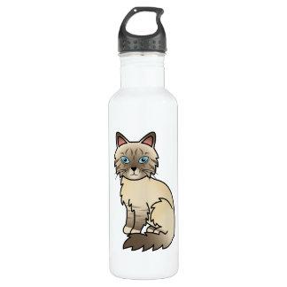 Chocolate Point Tabby Birman / Ragdoll Cat Stainless Steel Water Bottle