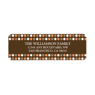 Chocolate Polkadots Return Address Labels (peach)